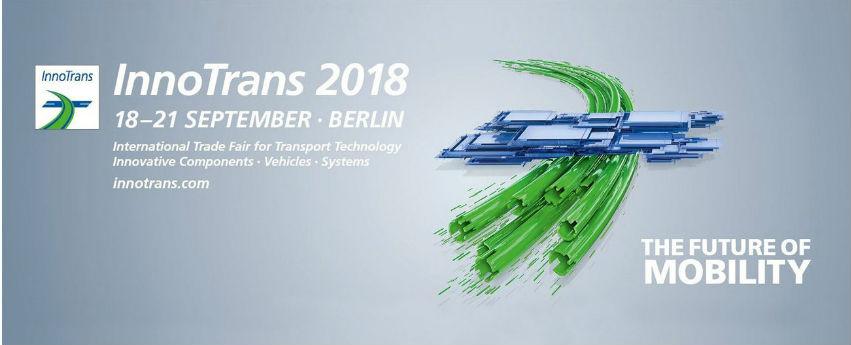 Kiállítunk az InnoTrans 2018 nemzetközi közlekedéstechnikai szakvásáron